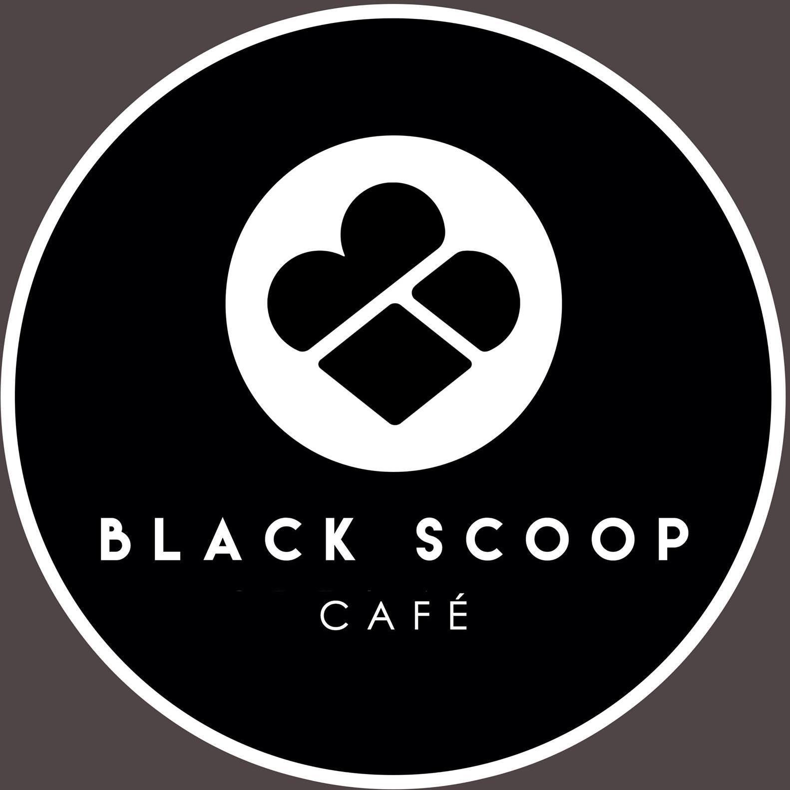 Black Scoop Cafe brand logo