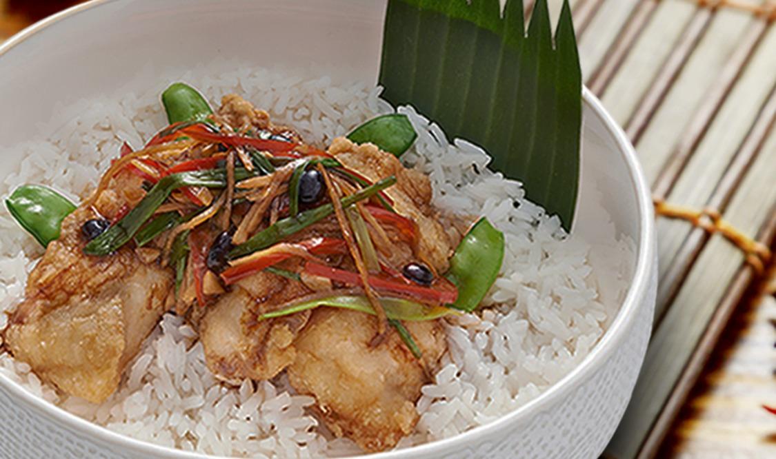 Fish Fillet Rice Bowl