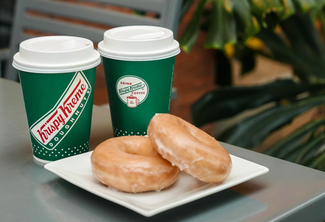 Original Glazed Doughnut and Medium Signature Coffee Combo
