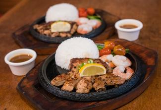 Chicken Steak with Shrimp