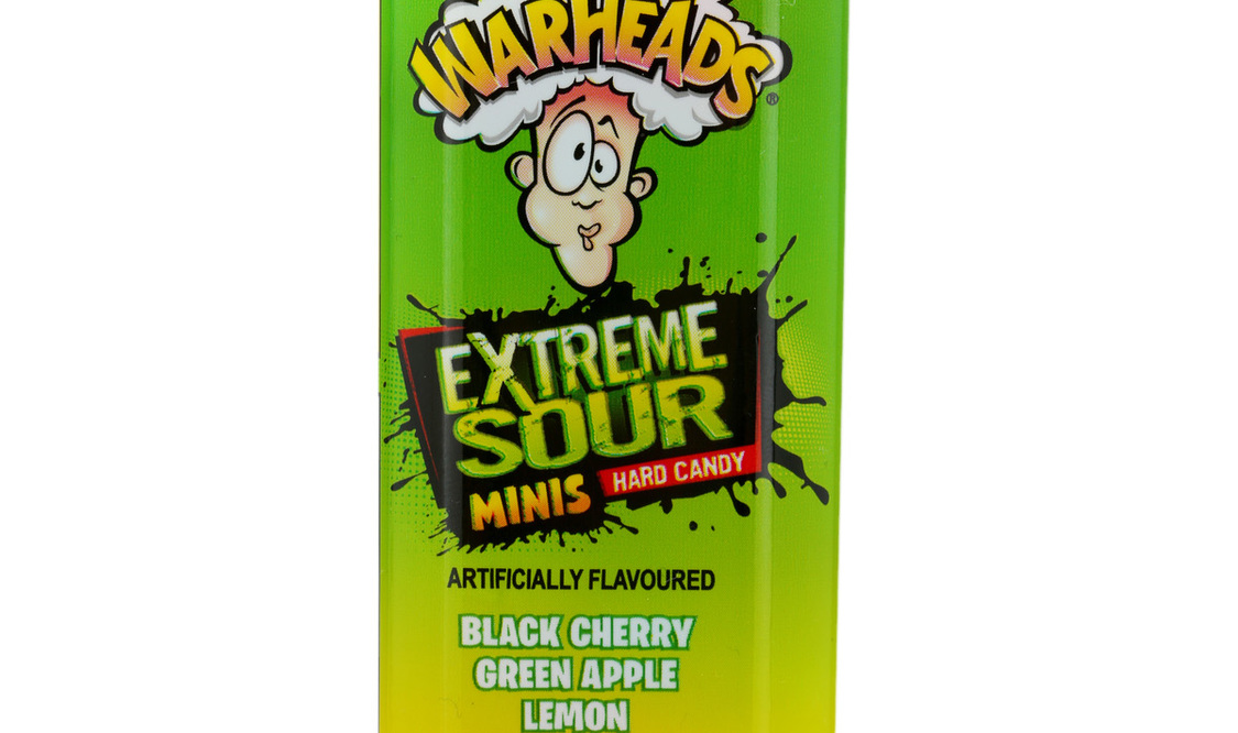 Warheads Mini Size Extreme Sour Hard Candy