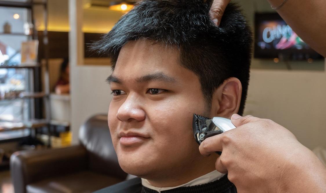 Hair Cut + Hair Color + Shave (Men)