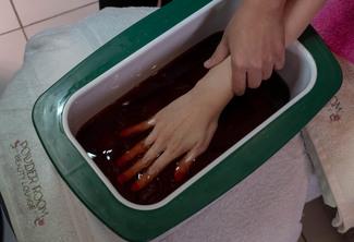 Hand Spa Manicure Paraffin Treatment with Premium Foot Spa Pedi Paraffin