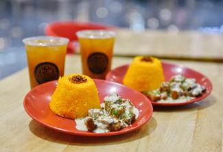 Creamy Kawali with House Blend Iced Tea