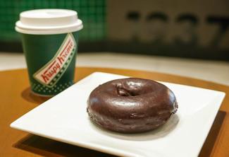 Choco Glazed and Original Coffee