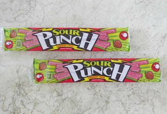 American Licorice Sour Punch Strawberry Straws Tray
