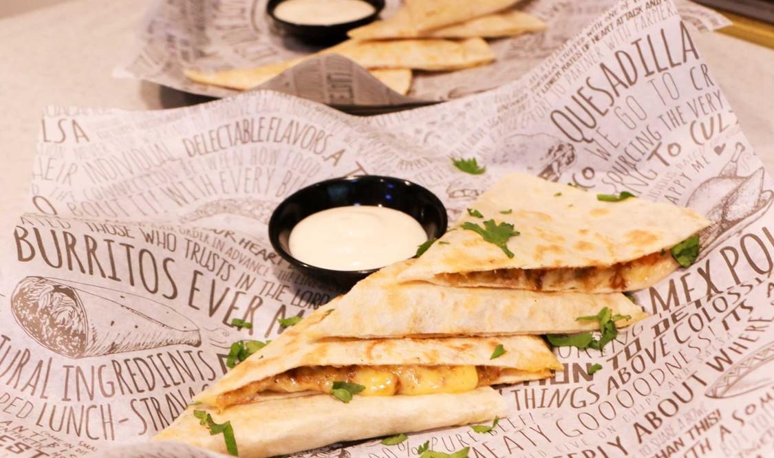 Carnitas Quesadilla and Cheese Quesadilla