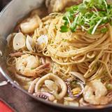 Seafood Olive Spaghetti
