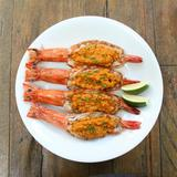 Grilled Tiger Prawns Topped with House-made Aligue Butter