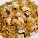 Fried Rice with Seafood & Dried Olive Leaf