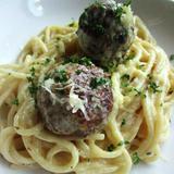 Arni Keftedes Pasta (Lamb Meatball Pasta)