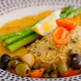 Catalan Baked Fish with Potatoes and Asparagus