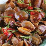 Stir Fried Clams in Singaporean Chili Sauce