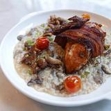 Chicken & Mushroom Risotto in Truffle Oil