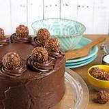 Ferrero-Topped Chocolate Cake w/ Nutella